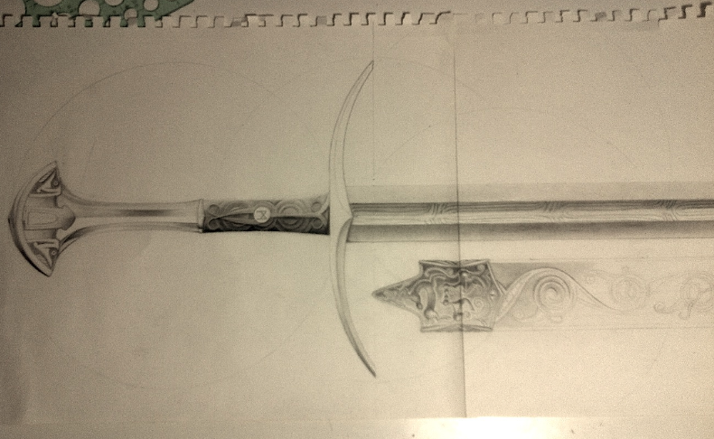 Celtic Sword Drawing Contain The Same Sword