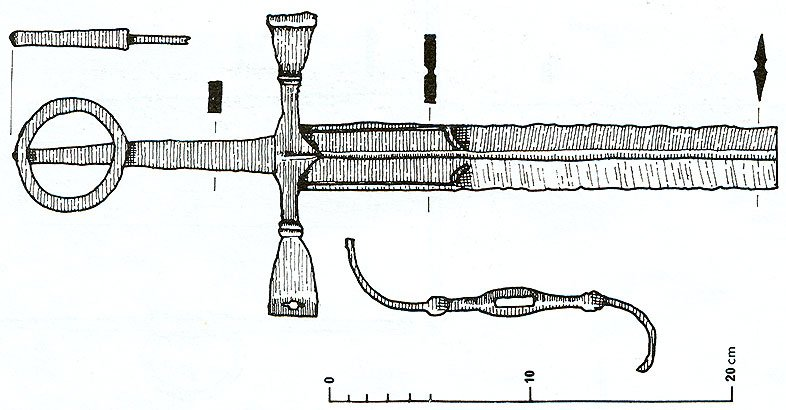 Celtic Sword Drawing a 16th c Drawing of Irish