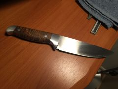 Double Bolster O1 Drop Point Hunter