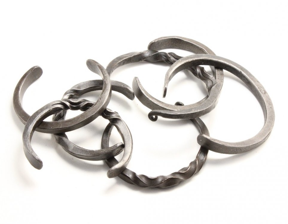 Hand forged Iron Bracelets by Gerald Boggs.jpg