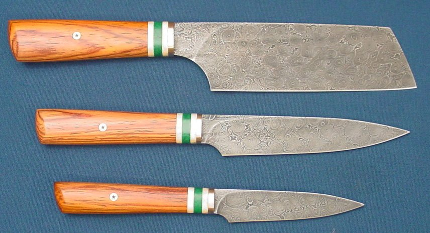 damascus kitchen knives for sale damascus kitchen knife set knives for sale bladesmith s forum board 2245