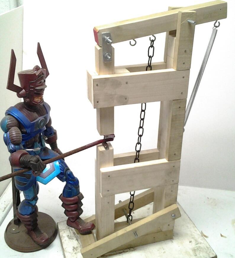 Wood treadle hammer