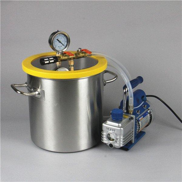 Stabilizing wood - Vacuum pump
