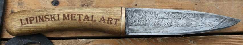 Nóż dziwerowany pattern welded knife 1.JPG