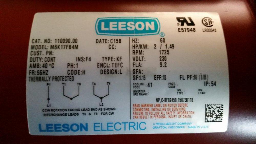 Leeson Electric Motor Wiring Diagram from bladesmithsforum.com