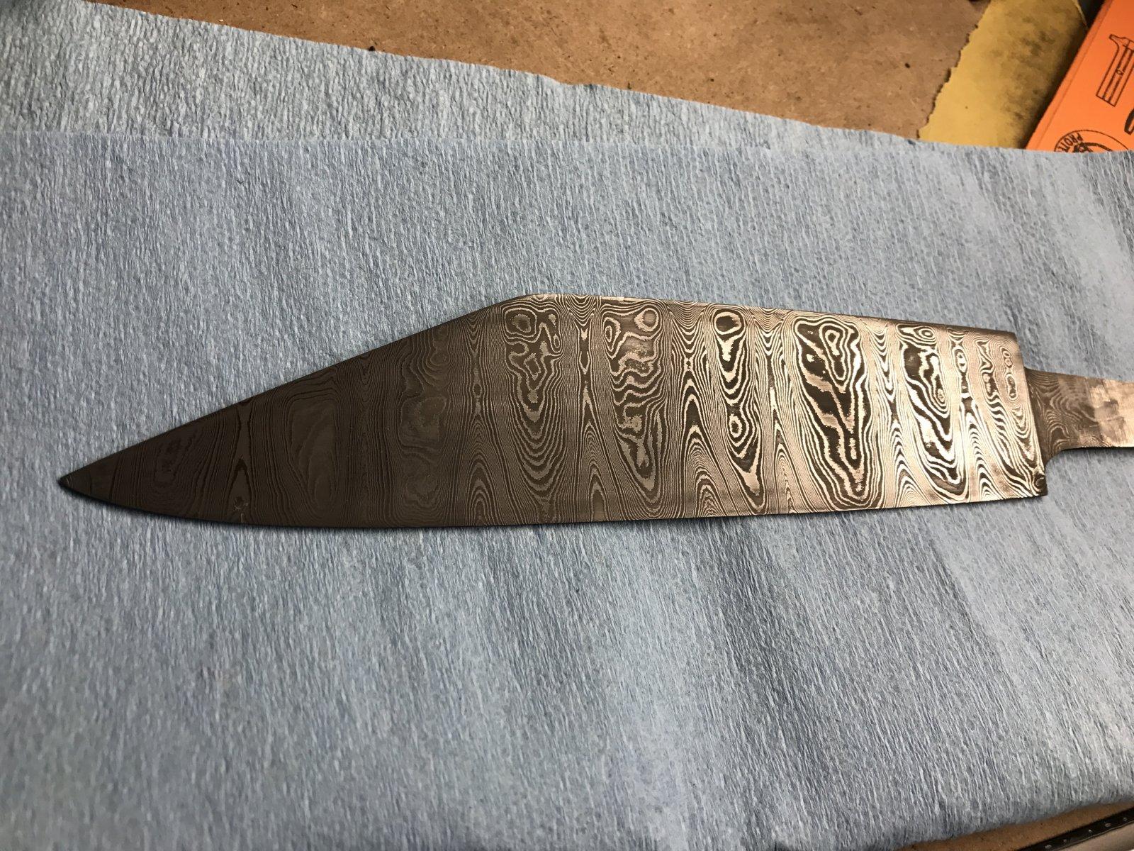Damascus Seax Blade