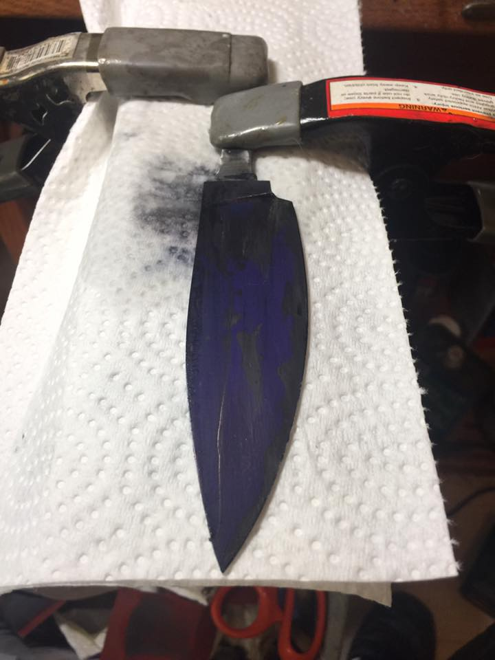 Polishing plunge lines  - Fit and Finish - Bladesmith's Forum Board