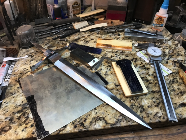 dogbone dagger work in progress page 2 pinned show and tell bladesmith 39 s forum board. Black Bedroom Furniture Sets. Home Design Ideas