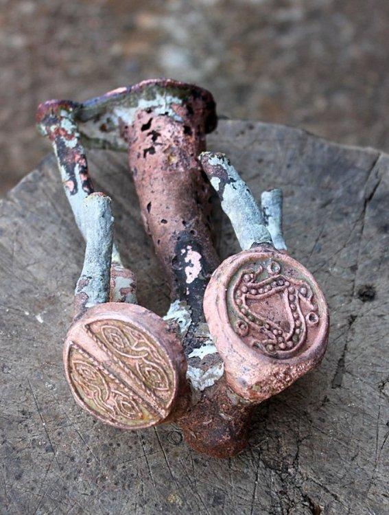 Pattern welded seax 10 Bronze casting.JPG